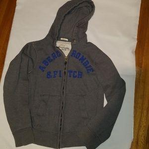 Abercrombie &Fitch gray hoodie w/ pockets zipper